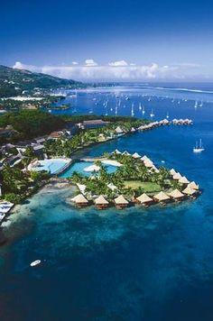 InterContinental Tahiti Resort & Spa  This resort enjoys an unparalleled view of Moorea's serrated silhouette from the northwestern corner of TAHITI.