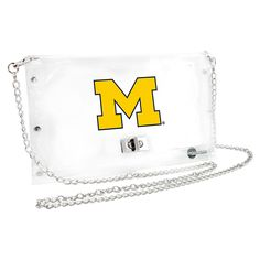 Michigan Wolverines NCAA Clear Envelope Purse