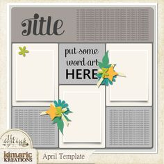 694 best free templates digital scrapbooking images on kimeric kreations welcome to the world new this weeke april template and an awesome cluster maxwellsz