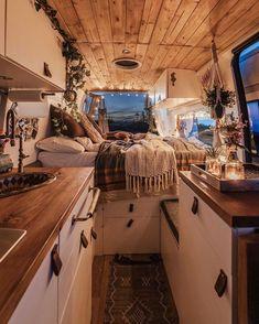 Van Conversion Interior, Van Interior, Interior Architecture, Camper Life, Camper Van, Bus Life, Campers, Kombi Home, Interior Design Minimalist