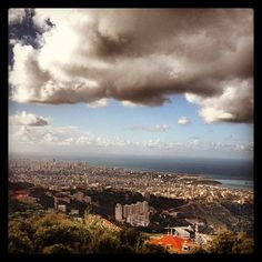 Beautiful view of #beirut after the #rain , #lebanon  (at Ain Saade)