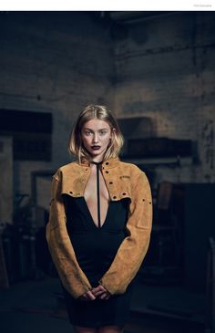 Cailin Russo by Aaron Smith Dress AQ/AQ, Welder's Jacket Stylist's own