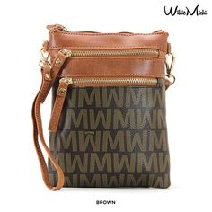 Willie Michi Voyage Pratique Vertical Wynn Cross-Body Bag with Wrist Strap - Assorted Colors