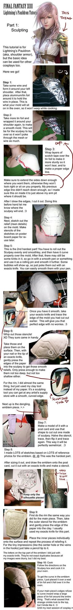 Pretty amazing tutorial!  Shoulder Armor Tutorial by ~RoxyRoo on deviantART