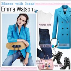 How To Wear GET THE LOOK - Emma Watson Outfit Idea 2017 - Fashion Trends Ready To Wear For Plus Size, Curvy Women Over 20, 30, 40, 50