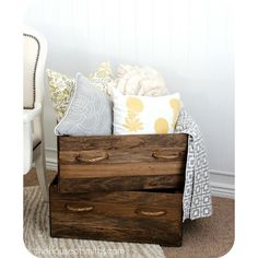 DIY & Crafts / DIY Vintage Wood Crates found on Polyvore