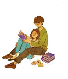 Na alegria e na leitura amém! Ahaha ♥