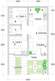Gambar dari Denah desain rumah type 36 1223