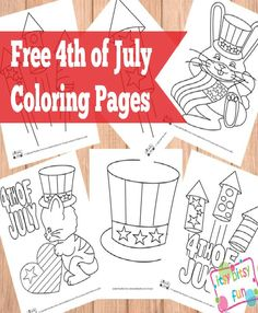 Free 4th of July Coloring Pages - Celebrating Independence day with Kids