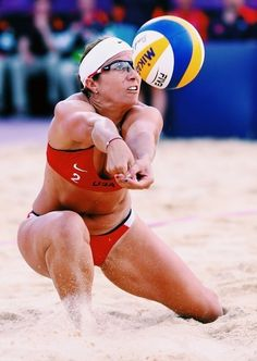 Misty May-Treanor and Kerri Walsh are no newbies to the Olympic Games, and now the two-time gold-medal winners are going for lucky number three in London! Women Volleyball, Beach Volleyball, Misty May Treanor, Mika, Beach Games, Lucky Number, New Things To Learn, Female Athletes, Olympic Games