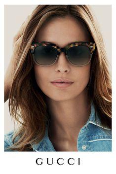 Nadja Bender for Gucci Eyewear Spring/Summer 2015 Advertising Campaign. Sunnies, Gucci Sunglasses, Sunglasses Online, Ray Ban Sunglasses, Sunglasses Women, Round Sunglasses, Wayfarer, Gucci Eyewear, Fashion Eyewear