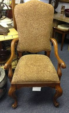 Set of 8 high back, Georgian style Dining Chairs. Plush, comfy seating for a formal room. Fully upholstered seat and back. 6 side, 2 arm chairs, $1195.
