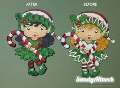 elf digi stamp | Coloring tutorial (with video), Christmas card