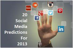 Social Media 2013 Predictions