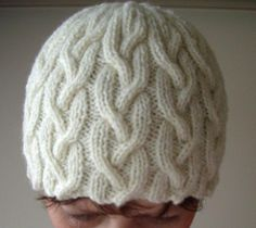 knit cable patterns | Knitting: Plaited cable beanie in 8ply, 2yrs-Lady