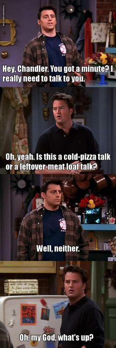 Omg. I eat like Joey and act like Chandler?!!