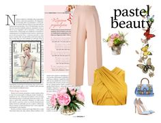 A fashion look from July 2017 featuring drape top, wide leg cropped pants and gianvito rossi pumps. Browse and shop related looks. Tree Company, Esquivel, Moschino, Fendi, Gucci, Topshop, Pastel, Givenchy, Polyvore