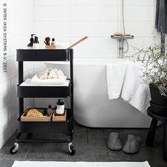New bathroom wall storage ikea small spaces Ideas Ikea Storage Units, Bedroom Storage Boxes, Bathroom Wall Storage, Ikea Bathroom, Bathroom Layout, Small Bathroom, Bathroom Hacks, Bathroom Makeovers, Smart Storage