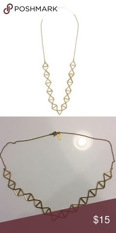 Madewell gold trapeze necklace In good condition Madewell Jewelry Necklaces