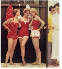 LOVE the swimsuit in the middle!! Super cute vintage swimwear