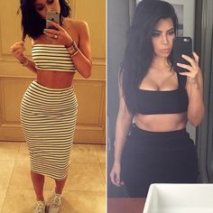 All the times Kylie Jenner and Kim Kardashian essentially were wearing the same outfit.