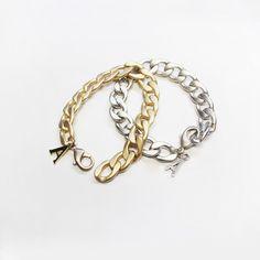 basic  bold chain bracelet (gold matte / silver matte) / designer custom jewelry 'AUGUST ALICE ' KOREA BRAND / HOMPAGE :   www.augustalice.com facebook:  https://www.facebook.com/pages/AUGUST-ALICE/1480821305483839?ref=bookmarks naver blog: http://blog.naver.com/leesdaum
