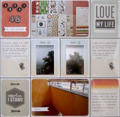 Project life 2014 - 48. týden (levá strana) Project Life, My Life, Projects, Log Projects, Blue Prints