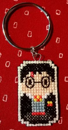 Harry Potter cross stitch keychain  https://www.etsy.com/listing/239262542/harry-potter-keychain?ref=shop_home_active_2