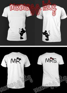 disney mickey and minnie mouse mr. and mrs. shirts