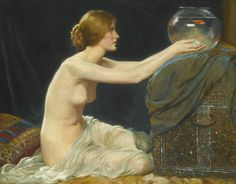 The Goldfish Bowl, c.1907, by Albert Henry Collings