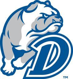 Drake Bulldogs Secondary Logo (2015) - Athletics Logo, Drake University, Bulldog Mascot, Sports Team Logos, Dog Anxiety, Free Logo, Sign Design, Logo Branding, Clip Art