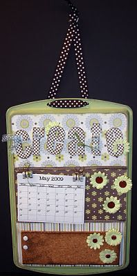 Scrap Yard Chicks-Scrapbooking Workshops & Kits: Day 3 Cookie Sheet Message Board-10 Days of Christmas Gifts