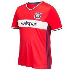 c0791ca8757 Chicago Fire 2017-18 Season Home Red MLS Soccer Shirt Jersey [J896] Soccer