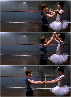 Jamie Bell as Billy and Stuart Wells as Michael in Billy Elliot (2000, Stephen Daldry).