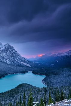 This looks like Peyto Lake in Banff National Park...beautiful
