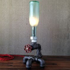 Steam Table Lamp Aqua