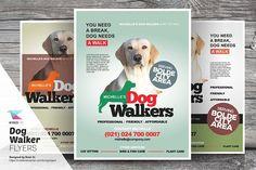 Dog Walker Flyer Templates  @creativework247