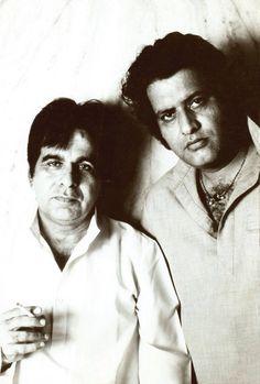 Dilip Kumar and Manoj Kumar