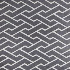 Caitlin Wilson Textiles: Charcoal City Maze Swatch