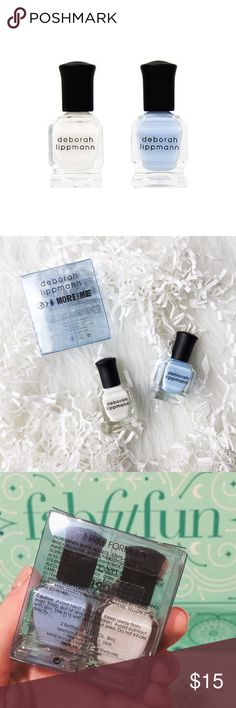 """Deborah Lippmann Nail Polish NEW IN BOX. NEVER USED OR OPENED. Colors are """"Blue Orchid"""" and """"Like A Virgin."""" This is from the FabFitFun spring box 2017. I ordered two boxes because I loved this box so much. But I don't need everything. This item is perfect for bundling with other items in my closet for a 30% discount! Makeup"""