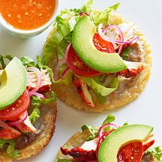 Panuchos (Black-Bean-Filled Tostadas) Recipe: ate these a lot in Cancun...Delicious!