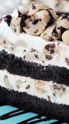 Chocolate Chip Cookie Dough Ice Cream Cake