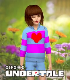 UNDERTALE SIMS 4 CC: FRISK OUTFIT Top + Bottom can be downloaded HERE!