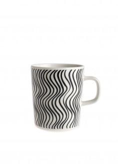 Marimekko Silkkikuikka Mug - Marimekko Kitchen & Dining Sale Zentangle, Scandinavia Design, Stoneware Mugs, Marimekko, Mug Cup, Mug Designs, Crate And Barrel, A Table, Crates