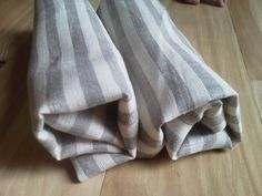 Grey Stripe Linen Towels by bethyscreations on Etsy, $12.00