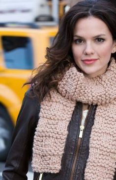 Three Blocks Scarf Free Beginner Knitting Pattern from Red Heart Yarns