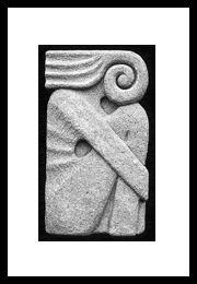 Ralph Prata - concrete carving - Ralph Prata - an Adirondack artist