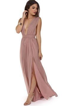 Araceli Mauve Chiffon Dress   WindsorCloud
