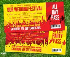 Concert Ticket Invitation Template Entrancing Wedding Invitation And Concert Ticket Save The Date Andrew & Lauren .