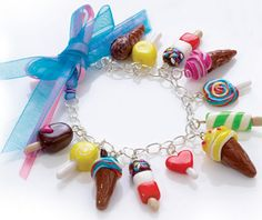 Candy shop polymer clay charms <3